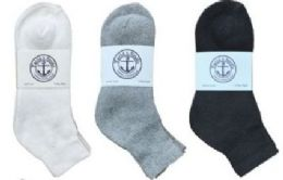 360 Bulk Yacht & Smith Men's Cotton Mid Ankle Socks Set Assorted Colors Black, White Gray Size 10-13
