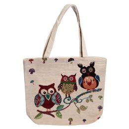 24 Bulk Animal Tapestry Bulk Tote Bags In 3 Assorted Styles