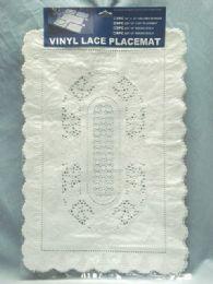 72 Bulk Crochet Place Mat 4 Piece Set