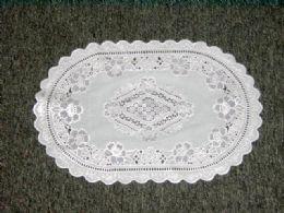 432 Bulk White/silver Placemat