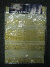 144 Bulk Vinyl Lace Placemat Ivory Gold