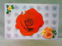 288 Bulk Table Mat Rose Design