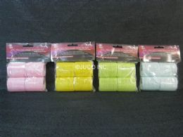 48 Bulk Hair Roller Velcro 4 Piece