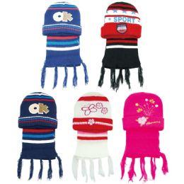 72 Bulk Children's Hat And Scarf Set