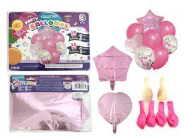 144 Bulk 8 Pc Party Balloon SeT- Pink Only