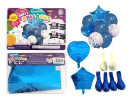144 Bulk 8 Pc Party Balloon SeT- Blue Only