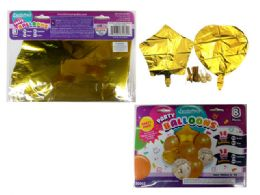 144 Bulk 8 Pc Party Balloon SeT- Gold Only