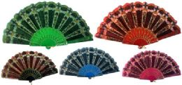 48 Bulk Hand Fan With Assorted Design