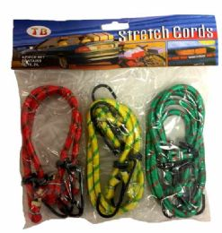 48 Bulk 6 Pieces Bungee Cord Assorted Size