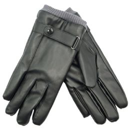 36 Bulk Men's Faux Leather Insulated Glove