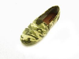 18 Bulk Women' Camouflaged Slip On Shoes