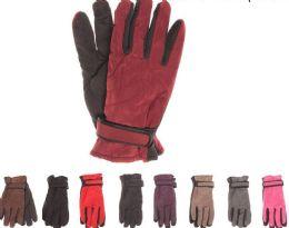72 Bulk Womens Thermal Lining Gripper Palm Ski Gloves