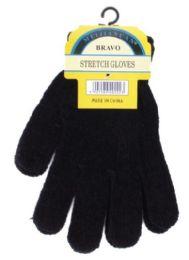 240 Bulk Unisex All Black Chenille Gloves