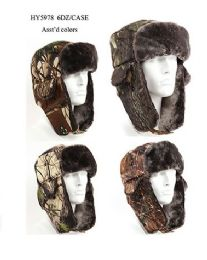 36 Bulk Cold Windproof Winter Aviator Collection Trooper Trapper Hunting Hat Aviator Winter