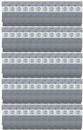 60 Bulk Yacht & Smith Men's Cotton 28 Inch Tube Socks, Referee Style, Size 10-13 Solid Gray