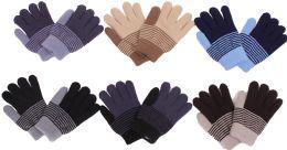 120 Bulk Boy's Striped Winter Glove