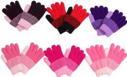 120 Bulk Girl's Magic Glove Assorted Colors