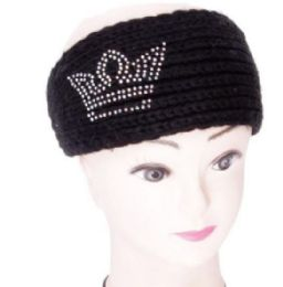 120 Bulk Warm Winter Crown Rhinestone Head Band