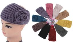 120 Bulk Knit Flower Headband