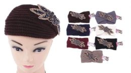 72 Bulk Knit Flower Headband