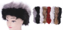 72 Bulk Women's Fur Headband