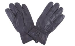 72 Bulk Women's Black Leather Gloves