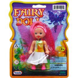 96 Bulk Fairy Doll On Blister Card