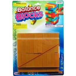 72 Bulk Plastic Blocks Tower Game On Blister Card