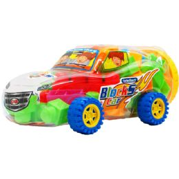 12 Bulk Assorted Colored Blocks In Car