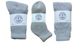 360 Bulk Yacht & Smith Kid's Cotton Sock Set Assorted Styles, Crew, Ankle And Tube Gray