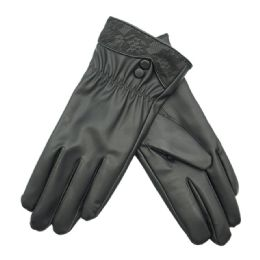 36 Bulk Women's Faux Leather Glove
