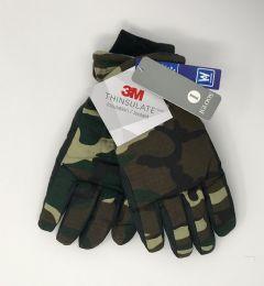 12 Bulk Men's Igloos Thinsulate Camo Ski Gloves
