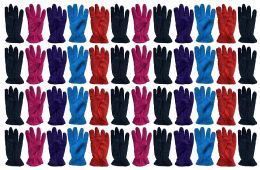 48 Bulk Yacht & Smith Value Pack Of Unisex Warm Winter Fleece Gloves, Many Colors, Mens Womens, One Size (48 Pack Woman)