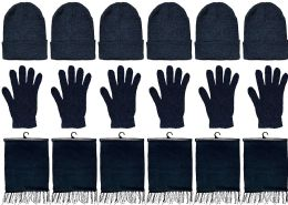 6 Bulk Yacht & Smith Winter Beanies, Wholesale Bulk Cold Weather Thermal Warm Stretch Skull Cap, Mens Womens Unisex Hat (black 6 Sets Of 3)
