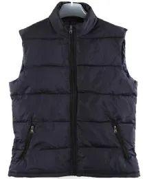 36 Bulk Men's Nylon Winter Sleeveless Vest Assorted Colors