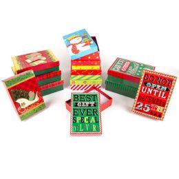 24 Bulk Gift Box Christmas Hot Stamp Embellished
