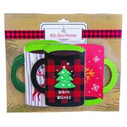 36 Bulk Gift Card Box Holder Novelty Xmas Mug Shape