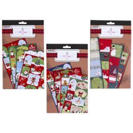 48 Bulk Gift Tag Book Xmas Self Stick
