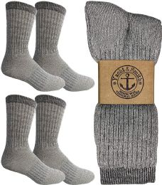 4 Bulk Yacht & Smith Merino Wool Socks For Hiking, Trail, Hunting, Winter, By Socks'nbulk (4 Pairs Gray B, Mens 10-13)