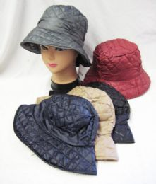 36 Bulk Womens Quilted Bucket Hat