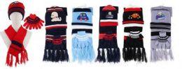 72 Bulk Kids 3 Piece Winter Set , Hat Glove Scarf Ages 5-10