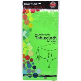 48 Bulk Green Plastic Tablecover Rectangle