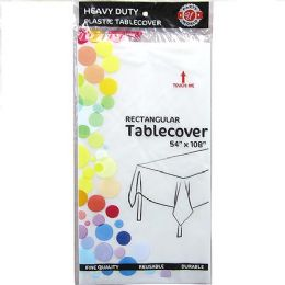 48 Bulk Clear Plastic Tablecover Rectangle