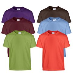 72 Bulk Mill Graded Gildan Irregular Youth 5.3 Oz. Short Sleeves Tees In Assorted Colors