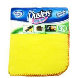 72 Bulk 3 Pack Yellow Dusters