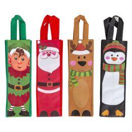 48 Bulk Wine Bag Christmas NoN-Woven