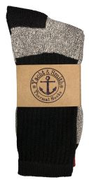 120 Bulk Yacht & Smith Mens Cotton Thermal Crew Socks, Cold Weather Boot Sock Shoe Size 8-12