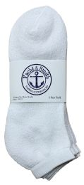 240 Bulk Yacht & Smith Men's No Show Ankle Socks, Cotton Size 10-13 White Bulk Buy