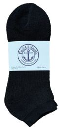 240 Bulk Yacht & Smith Men's No Show Ankle Socks, Cotton. Size 10-13 Black Bulk Buy