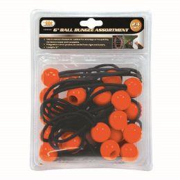 6 Bulk 24 Piece Ball Bungee Assortment